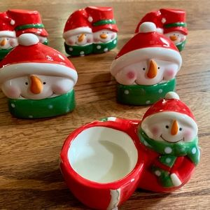 Other - Group of 6 Snowman Candle Holders